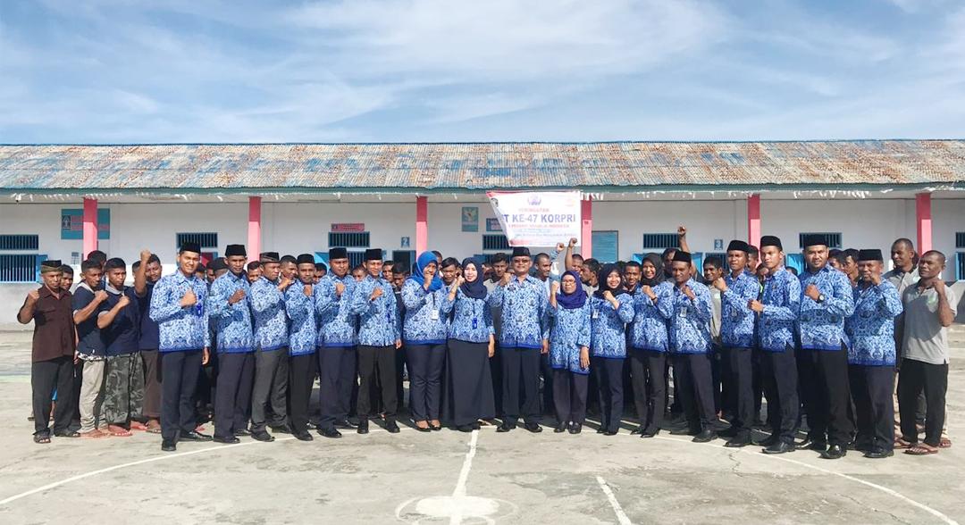 Kepala Rutan Labuha Pimpin Upacara HUT Korpri ke-47