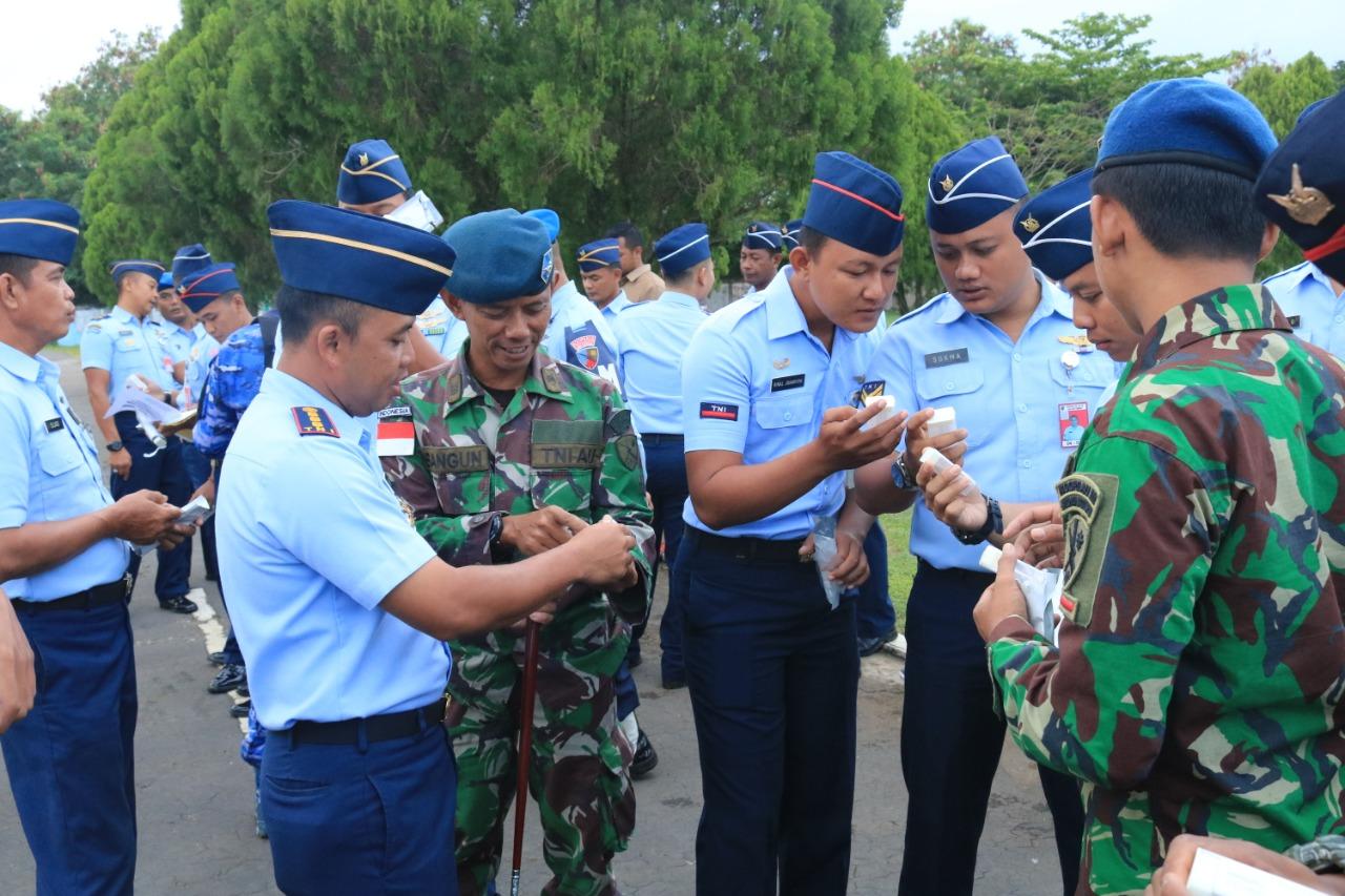 POM TNI-AU Lanud Leo Wattimena Morotai Adakan Tes Urine