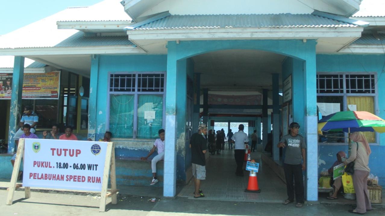 Cegah Corona, Akses Pelabuhan di Tidore Ditutup