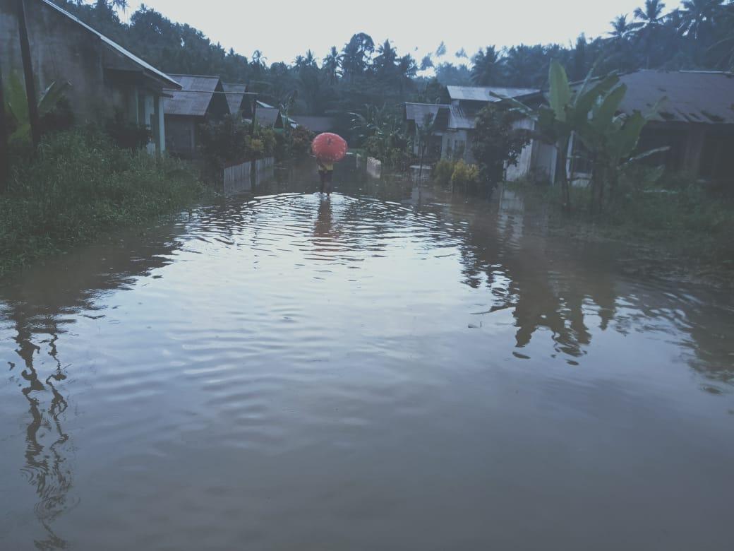 Puluhan Rumah Warga Desa Linggua Terendam Banjir