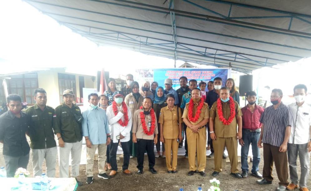 Sarana Air Minum Pamsimas Desa Baru Halbar diresmikan