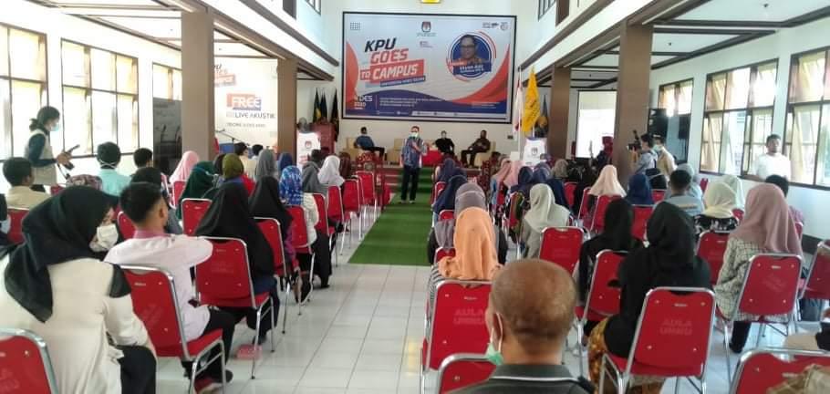 Antisipasi Klaster Baru di Pemilu, KPU Tikep Sosialisasi di Kampus