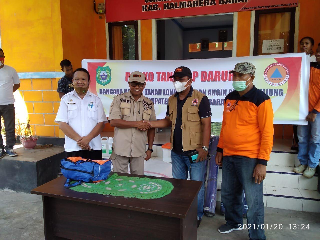 BPBD Malut Salurkan Bantuan untuk Warga Halbar Terdampak Bencana