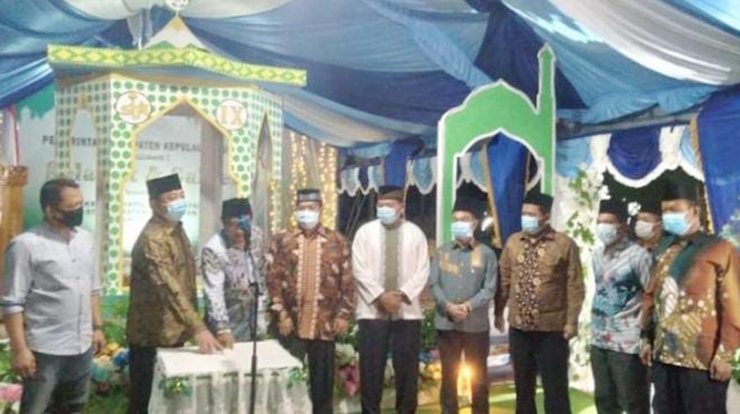 Bupati Hendrata Thes Resmi Buka STQ Tingkat Kabupaten Sula 2021