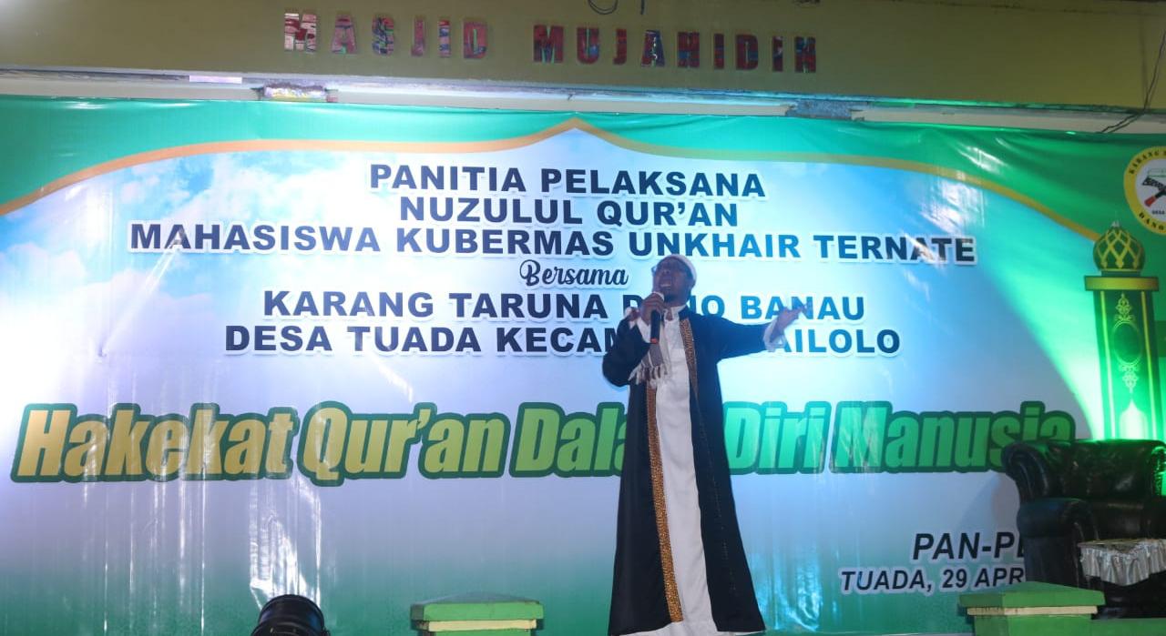 Mahasiswa Unkhair dan Karang Taruna Dano Banau Gelar Nuzul Qur'an