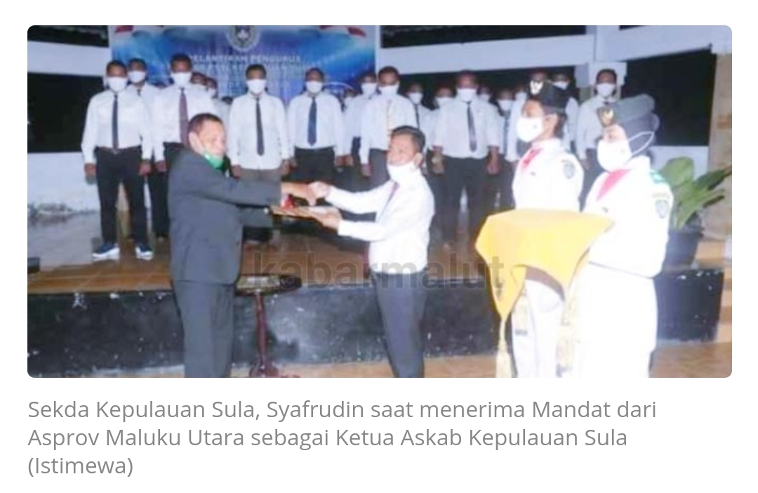Syafrudin Sapsuha Resmi Jabat Ketua Askab PSSI Kepsul